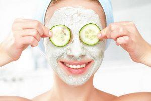 donna, maschera di cetriolo, cura della pelle
