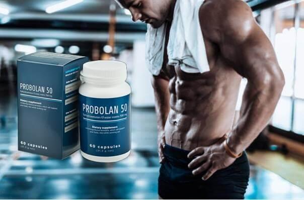 Probolan 50, uomo con muscoli