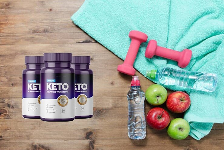 purefit keto, acqua minerale, mele