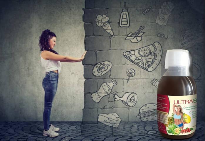 ultraslim, donna, cibo spazzatura