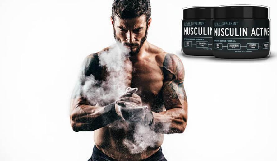 musculin active, uomo che si prepara per l'allenamento