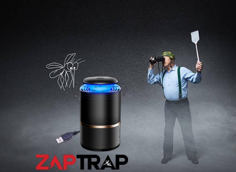 Zaptrap, uomo in attesa di zanzare