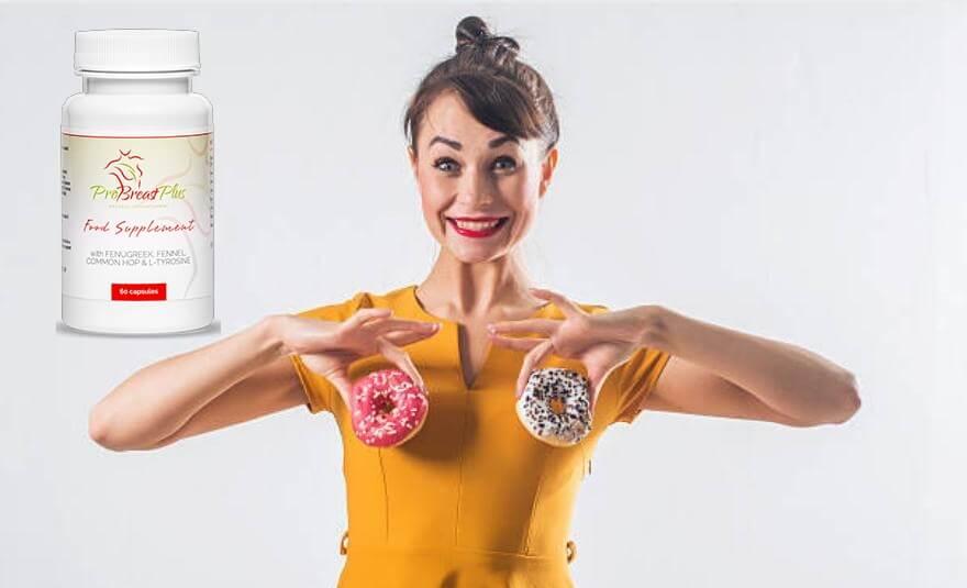 ProBreast Plus, donna con ciambelle