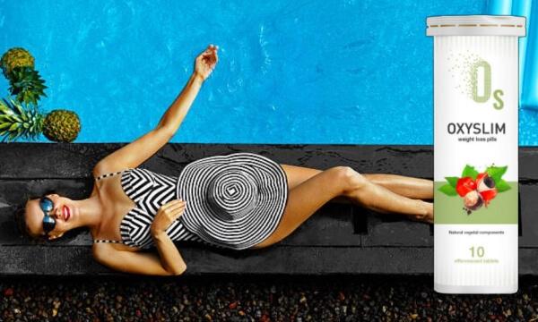 oxyslim, donna, piscina