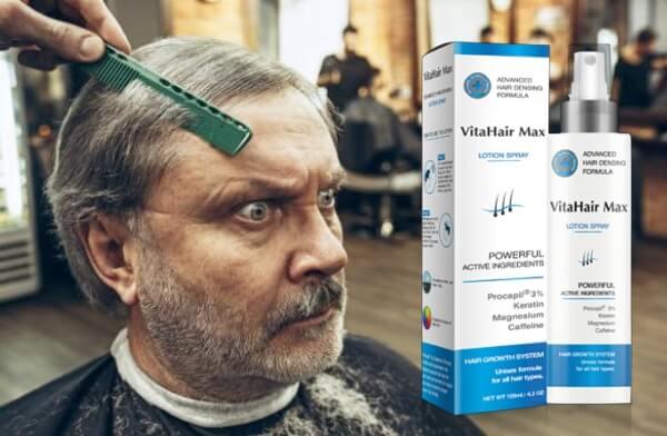 VitaHair Max, uomo al negozio di barbiere