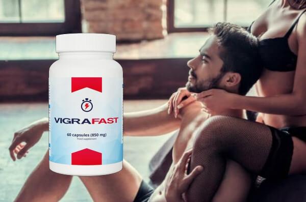 Vigra Fast capsules, felice uomo e donna a letto