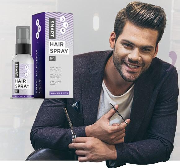 smart hair spray, uomo