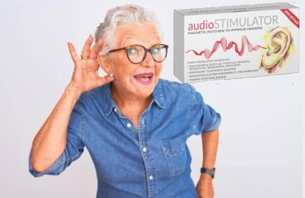 audiostimulator, donna, orecchie, apparecchio acustico