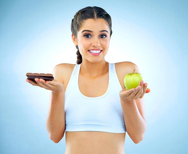 donna, dieta, dolci, mela
