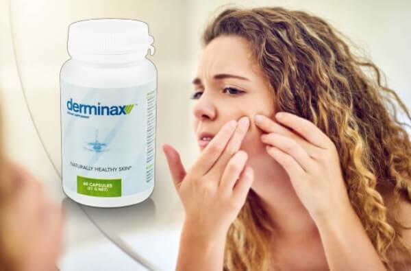 derminax capsule, acne, donna
