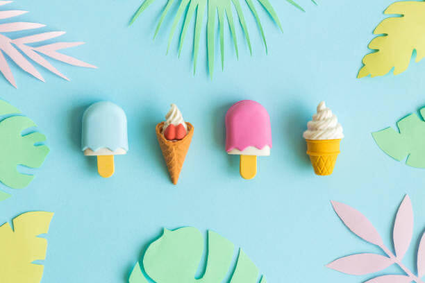 gelati, colorati