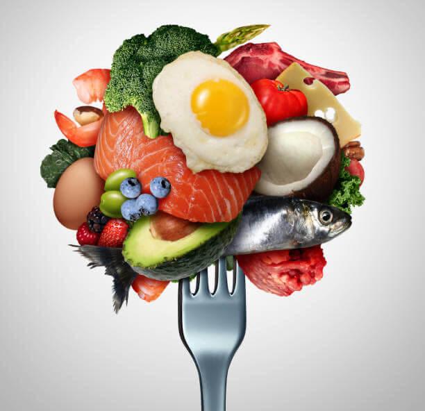delizioso, pesce, uovo, dieta keto