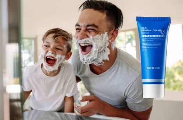 koogis razorless shaving crema, uomo
