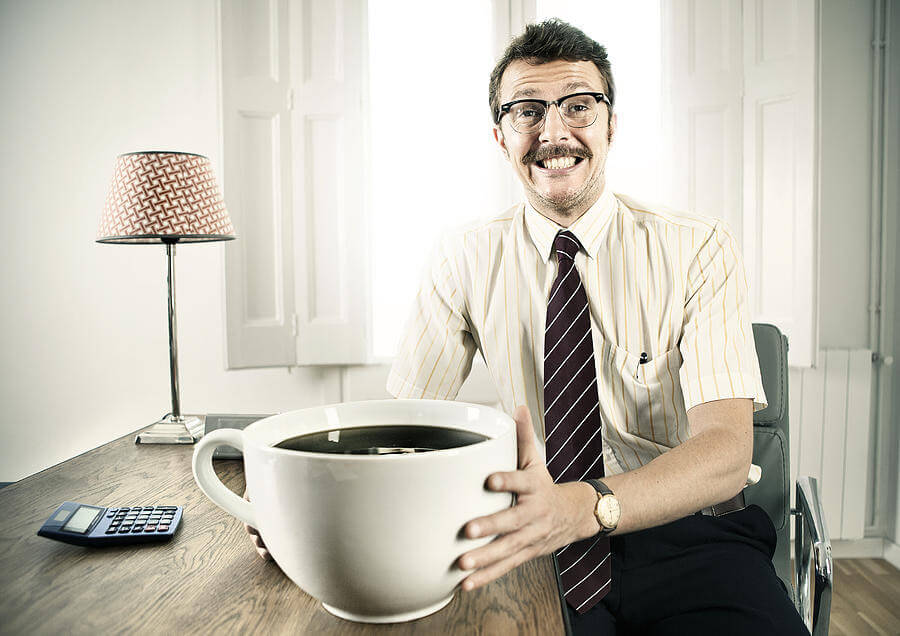 uomo, caffè, tazza
