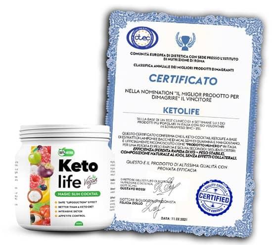 ketolife certificato italia